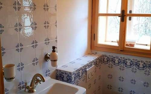 コテージPomněnka-寝室の小さなバスルーム
