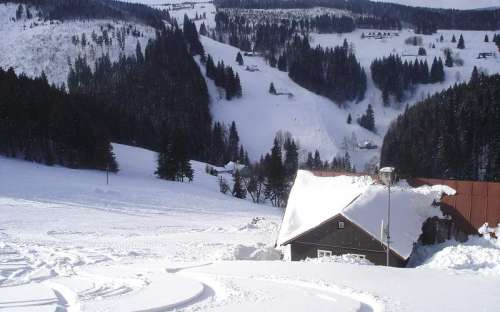 Mine de Javoři en hiver