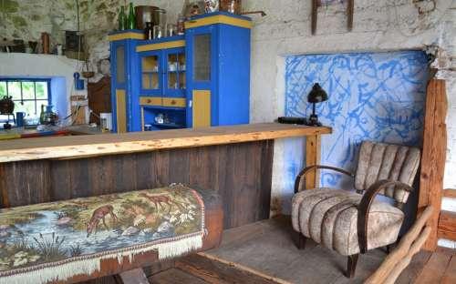Chalupa U Kamenného stolu - Letní kuchyně s barem