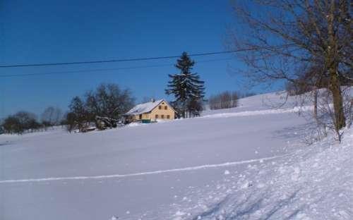 Winterhäuschen im Riesengebirge