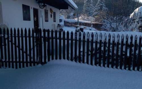 Chalupa v Podzámčí - v zimě