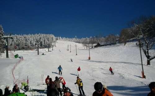 Ještěd - lyžování, zima Jizerské hory