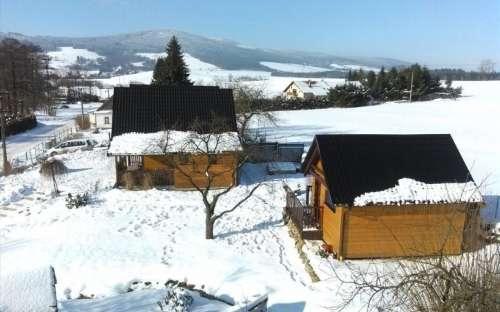 Chaty v zimě