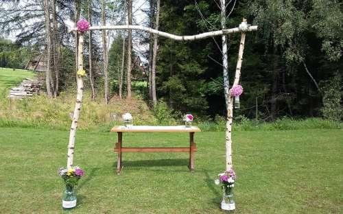Bryllup ved hytten Jeseníky