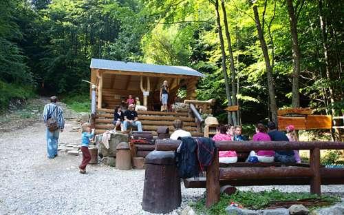 Forest bar. Jeseníky Mountains, Rychlebské Hory