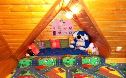 Homes in the playroom for children at the cottage H. Bečva
