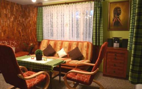 Living room at Horní Bečva cottage