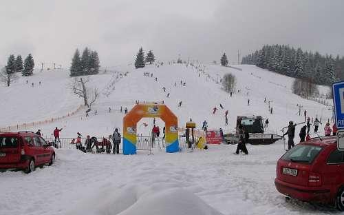 Kinderen ski-park in Jeseníky, Ostružná