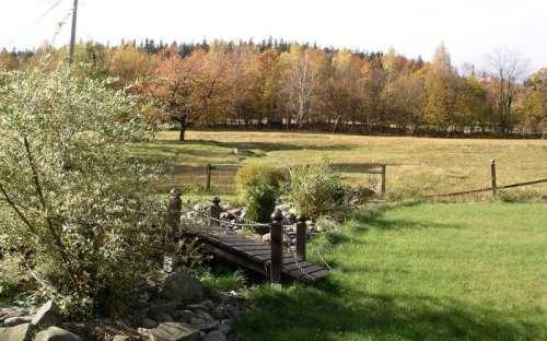 Podzim v horní části zahrady