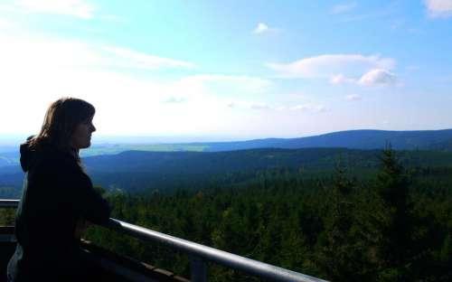 Výhled z rozhledny na Anenském vrchu