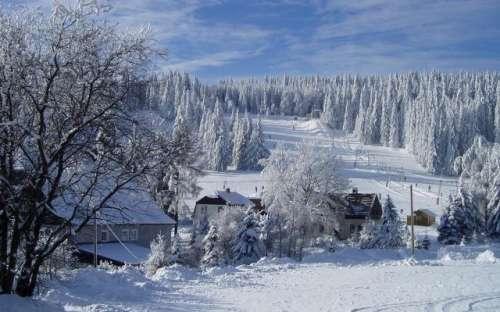 Zima Krušné hory