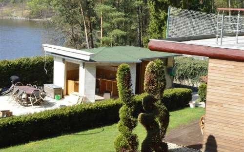 Pohled na zahradní kuchyň pro párty