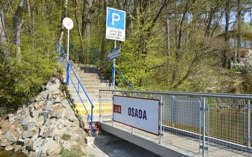 Zastávka parníku na Brněnské přehradě - OSADA