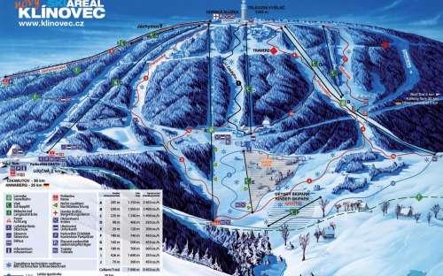 Ski areál Klínovec Krušné hory