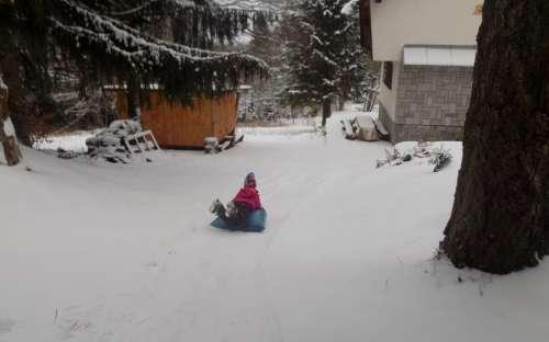 Zimní radovánky na chatě