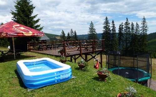 Sagampo trampolino e piscina