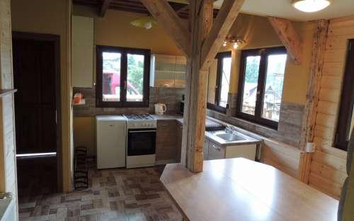 Apartmán přízemí - společenská místnost, kuchyň