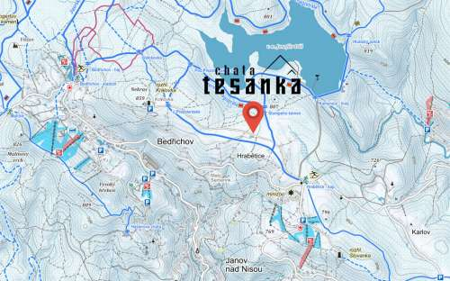 Domek Tesanka na mapie