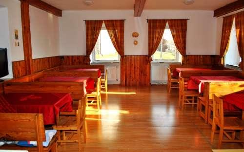 Chata U Kostela Příchovice - jídelna a společenská místnost