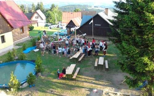 Letní tábor na naší chatě Příchovice, Jizerské hory