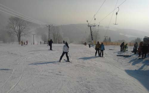 Lyžování Jizerské hory, lyžařský vlek ski areál U Čápa