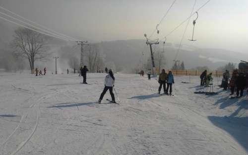 Skiløb Jizera Mountains, skilift ski resort U Čápa