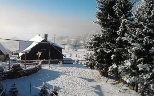 Cottage in de winter