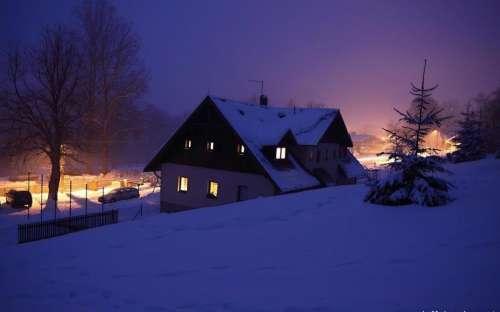 Cottage in inverno a Sumava