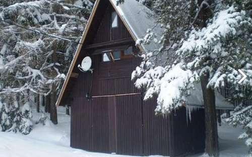 Chata v zimě Šumava
