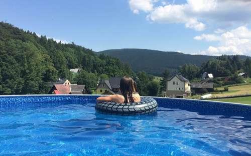 Pool with wonderful views