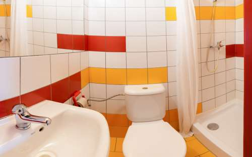 Badezimmer im Eden Gästehaus