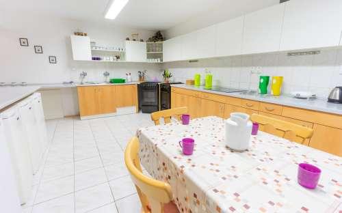 コテージSmrkováのキッチン