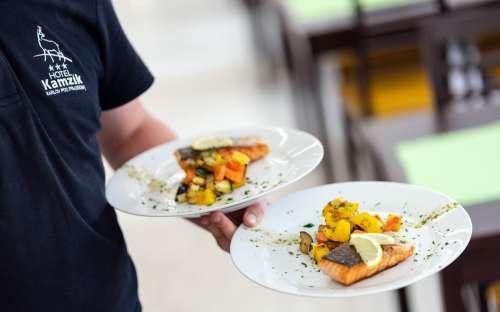 Gastronomy in the hotel Kamzík
