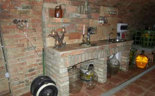 camp Havraníky - wine cellar