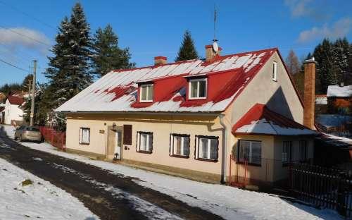 Chata v zimě Olomoucko