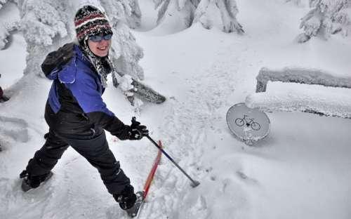 Skifahren und Langlaufen in den Bergen