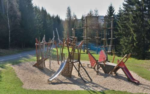 Children's playground in the Jeseníky Mountains