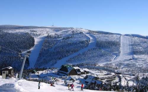 Ski slopes in the Jeseníky Mountains