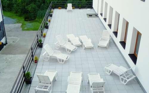 Sluneční terasa v hotelu Kamzík