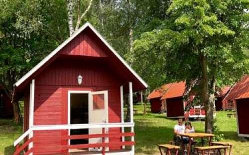 Camp Andělská laguna - dam Slapy
