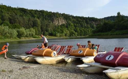Camping Bítov - Tretboote
