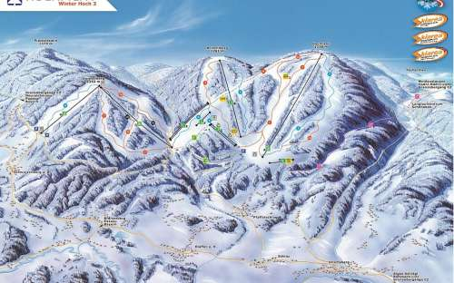 Kemp Lipno - lyžování