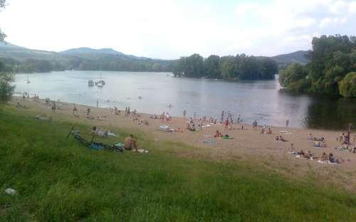 Camping Marina Labe - schwimmen
