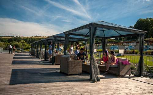 Camping Marina Liptov - terrasse