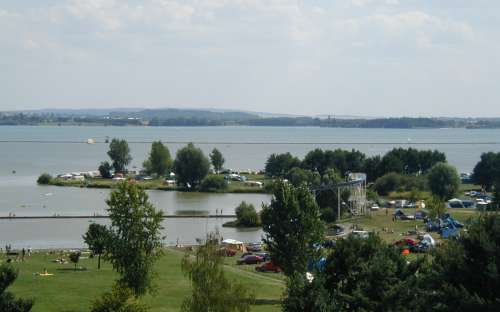 Kemp Rozkoš - přehrada