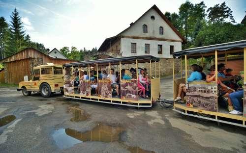 Camp Šiklův mlýn - train, attractions