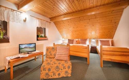 kemp a penzion u Mauritzů - pokoje