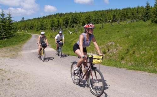 Kemp Žandov - cyklisté, výlety