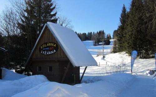 Kemp Železná Ruda - areál zima
