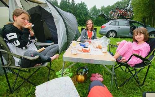 gebieden voor tenten en caravans